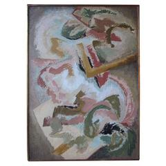 Large American 1960s Abstract Expressionist Painting by Draper