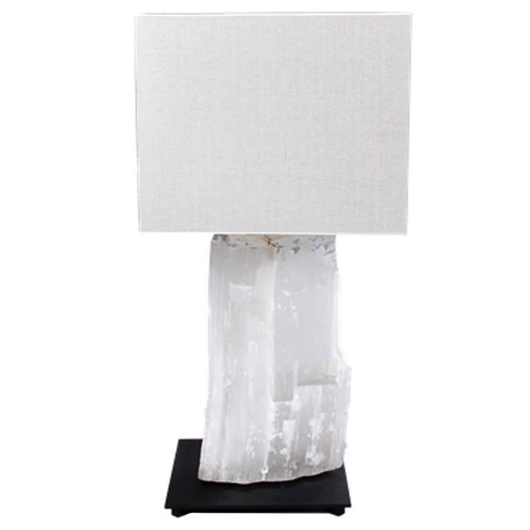 Selenite Massive White Table Lamp