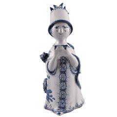 Bjorn Wiinblad Unique Ceramics Figure, Aunt, 1970, The Blue House