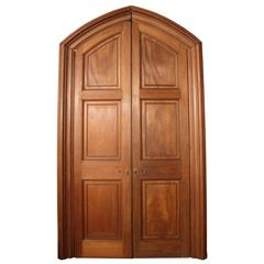 Pair of High Quality Late 19th Century Mahogany Double-Doors