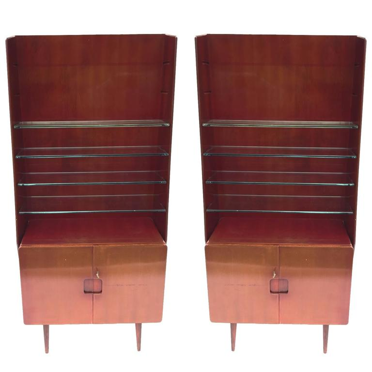 Bookcase Display Cabinet 1950s Italian by Vittorio Valabrega 1