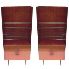 Bookcase Display Cabinet 1950s Italian by Vittorio Valabrega