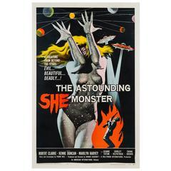 Astounding She Monster American Film Poster, Albert Kallis, 1958