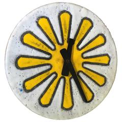 Ceramic Meridian Wall Clock by George Nelson Howard Miller Raymor