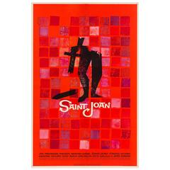 Saint Joan Original American Film Poster, Saul Bass, 1957
