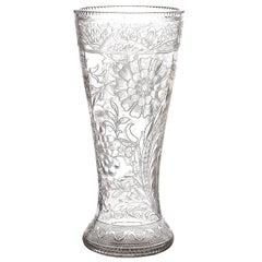 Spectacular Thomas Webb Art Nouveau Rock Crystal Vase