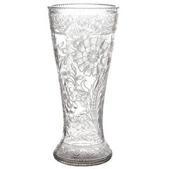 Spectacular Thomas Webb Art Nouveau Rock Crystal Vase