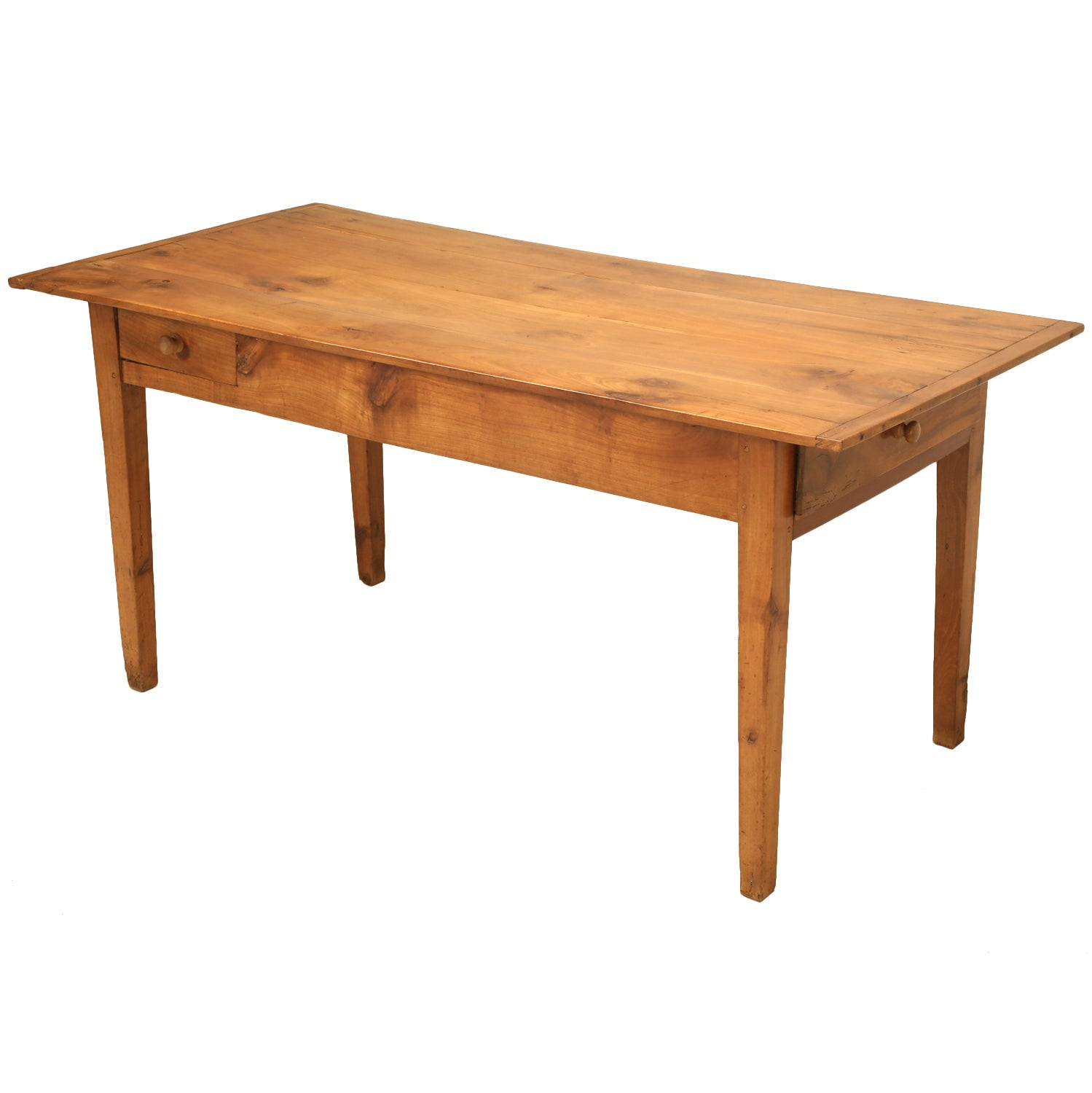 Antique Country French Farm Table or Kitchen Table in Cherry Wood
