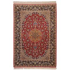 Isfahan Persian Rug Wool and Silk
