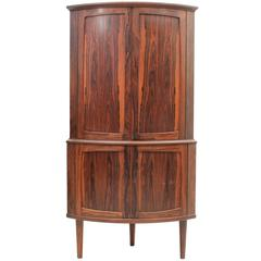 Rosewood Corner Cabinet with Two Storage Sections, Danish, Mid-Century Modern