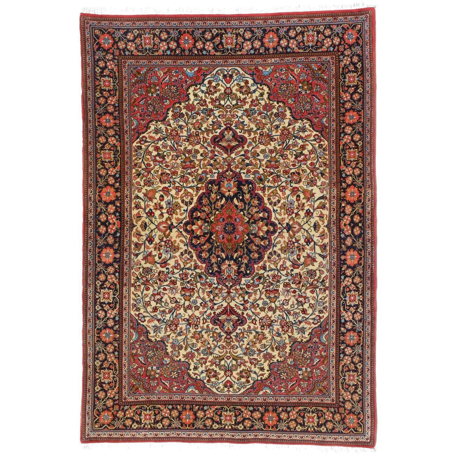 Chinese Rug Dealers: Fine Art Persian Rug Qum For Sale At 1stdibs