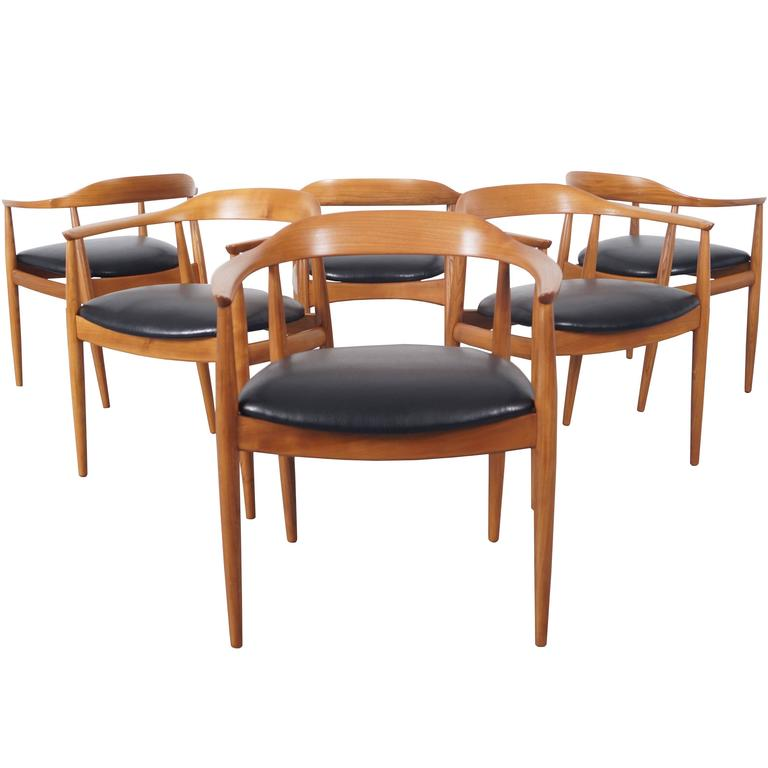 danish modern dining chairs by niels eilersen at 1stdibs. Black Bedroom Furniture Sets. Home Design Ideas