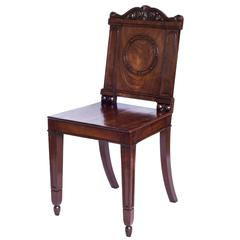 Fine 19th Century English George III Regency Hall Chair, Attributed to Gillows