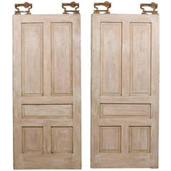 Pair of American Painted Wood Pocket Doors