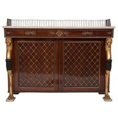 Regency Style Rosewood Cabinet