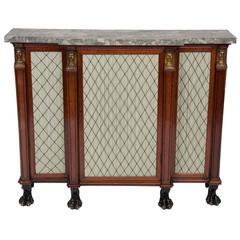Fine Regency Gilt Bronze-Mounted Parcel Gilt Rosewood Side Cabinet