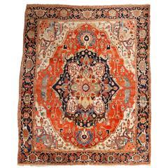 Richly Colored Antique Persian Heriz Serapi Carpet