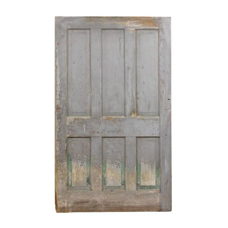 Single oversized six panel door with original finish for - Oversized exterior doors for sale ...