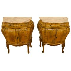 Pair of Baroque Revival Commodes