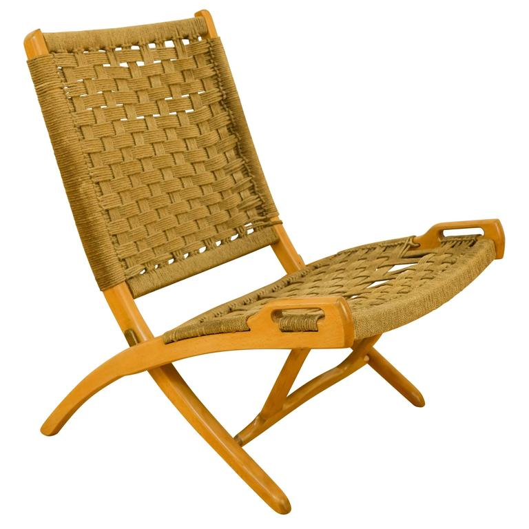 Danish Modern Folding chair Chair For Sale at 1stdibs