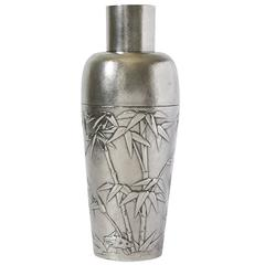 Chinese Export Silver Cocktail Shaker by Hung Chong