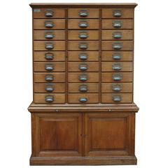 French Oak Notary Luxurious Multi-Drawer File Cabinet from E.Chouanrad, Paris