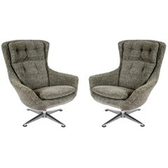 Pair of Swivel Armchairs
