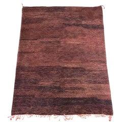 Vintage Moroccan Brown Tribal Berber Rug