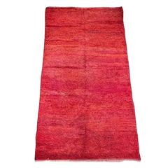 "Moroccan Red Tribal Rug ""Bed of Red Roses"""