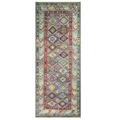 "Antique Kuba/Shirvan/Caucasian Rug, 3'8"" x 7'2"""