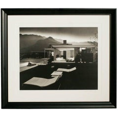 """Julius Shulman """"1947 Kaufman House Palms Springs"""" Lithograph, Signed & Numbered"""