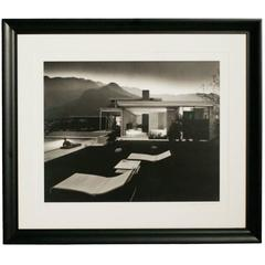"Julius Shulman ""1947 Kaufman House Palms Springs"" Print, Signed"