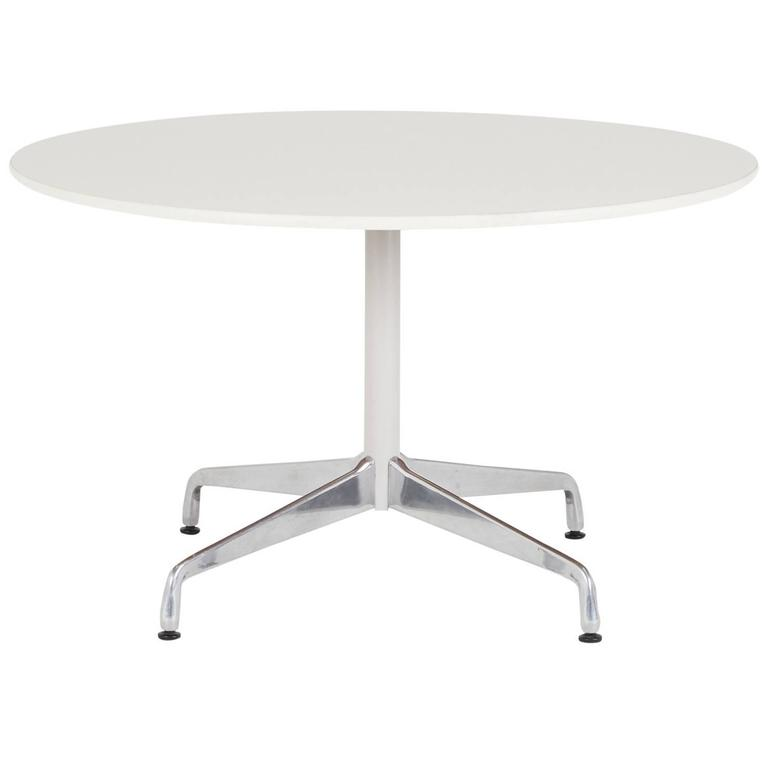 Eames For Herman Miller Round Dining Or Breakfast Table On