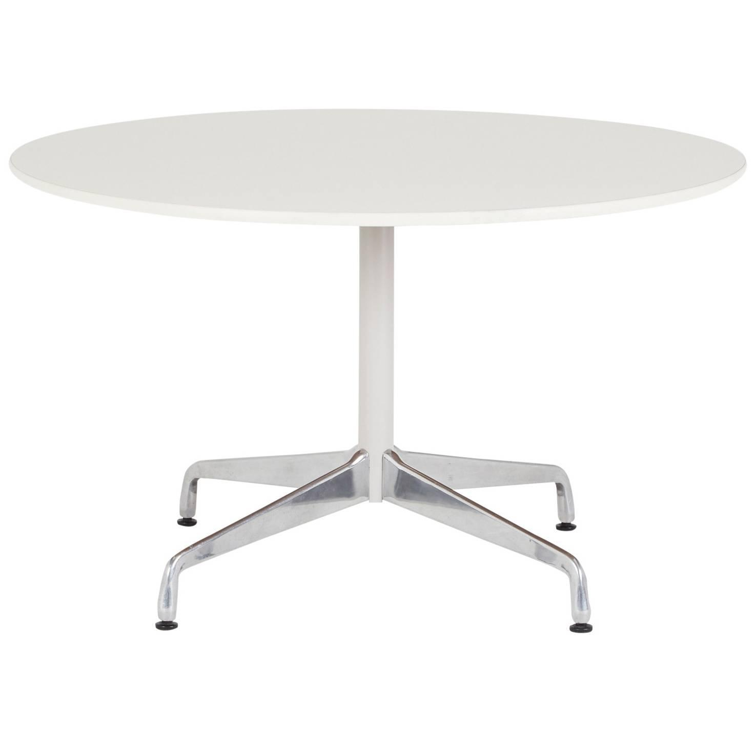 eames for herman miller round dining or breakfast table  on sale  - eames for herman miller round dining or breakfast table  on sale at stdibs