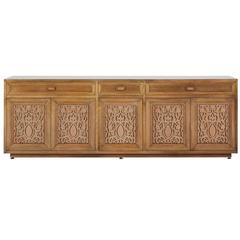 Monumental Custom Carved Credenza by Maurice Bailey for Monteverdi-Young