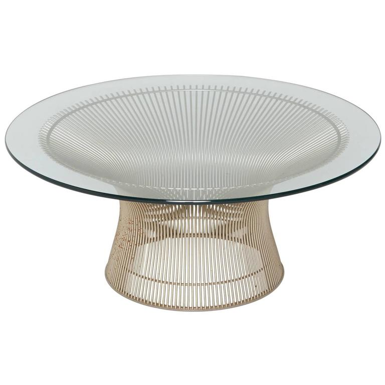 Warren Platner for Knoll International Coffee or Cocktail Table in Nickel