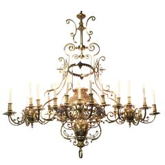 18th Century French Provincial Bronze Chandelier