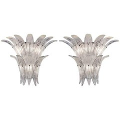 Pair of Vintage Barovier Murano Glass Sconces from Italy