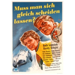 Original Vintage Movie Poster Muss Man Sich Gleich Scheiden Lassen ft Car Racing