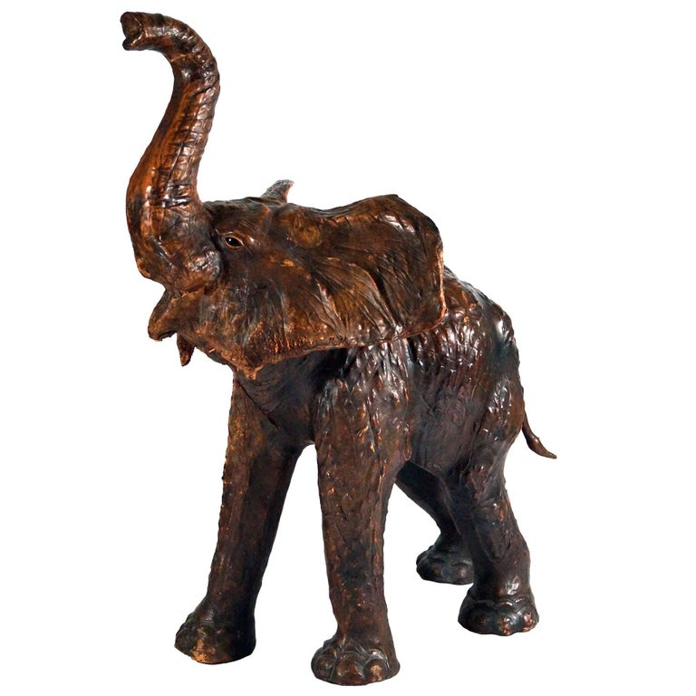 Antique Leather Elephant
