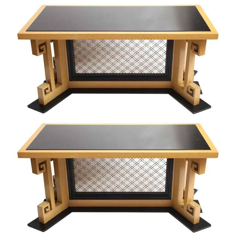 Pair of Art Deco Tables Attributed to Jules Bouy For Sale