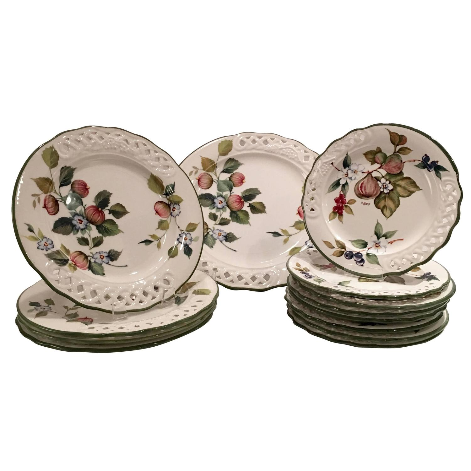 13 Piece Set Of Quot Tiffany Quot Dinnerware By Brunelli For Sale