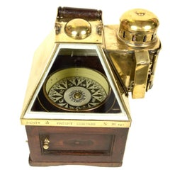 Binnacle Compass Mahogany and Brass End of the 19th century