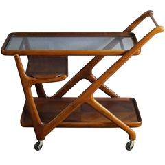 Well-Known Bar Cart by Cesare Lacca, Italy, 1950s