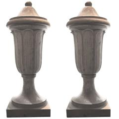1910 Pair of Extra Large Terracotta Urns from Bloomfield, NJ