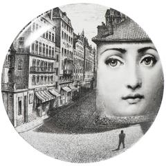 Atelier Fornasetti porcelain plate number 223, Italy circa 1990