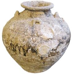 15th Century Ship Wrecked Large Vase, Cambodia