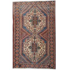 Antique Persian Rugs, Tribal Rug Made by Afshar Tribe