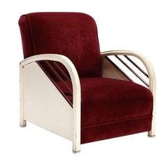 Enameled Steel Club Chair