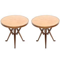 Carlo Mollino Influenced Pair of Pedestal Tables